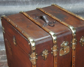 Antique French Hatbox Trunk Antique Luggage
