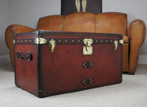 1920s Antique Louis Vuitton Steamer Trunk  91dfbf53db0c