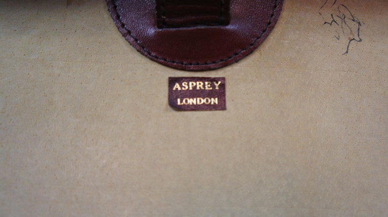 Executives Vintage Leather Attache Briefcase By Asprey London RRP 2700 Pounds