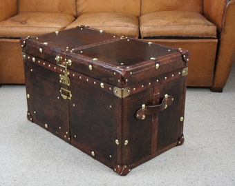 Finest English Leather Trunk with Key