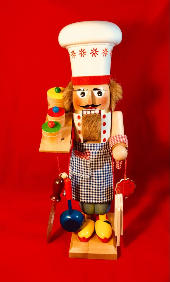 Steinbach, German Nutcracker, Large, Heavy Baker, Vintage, No Box, 17