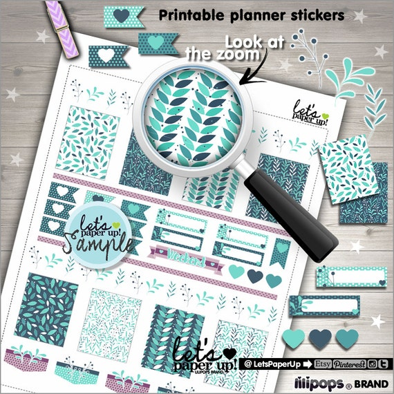 Leaves Stickers Printable Planner Stickers Weekly Kit Floral Stickers Weekly Stickers Planner Accessories Winter Stickers