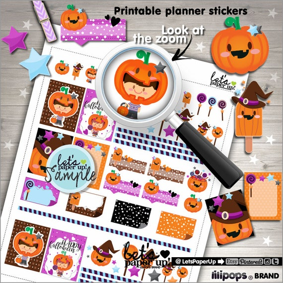 photo regarding Halloween Stickers Printable known as Halloween Stickers, Printable Planner Sticker, Halloween Pack, Kawaii Stickers, Designing Stickers, Lovable Stickers, Pumpkin Stickers