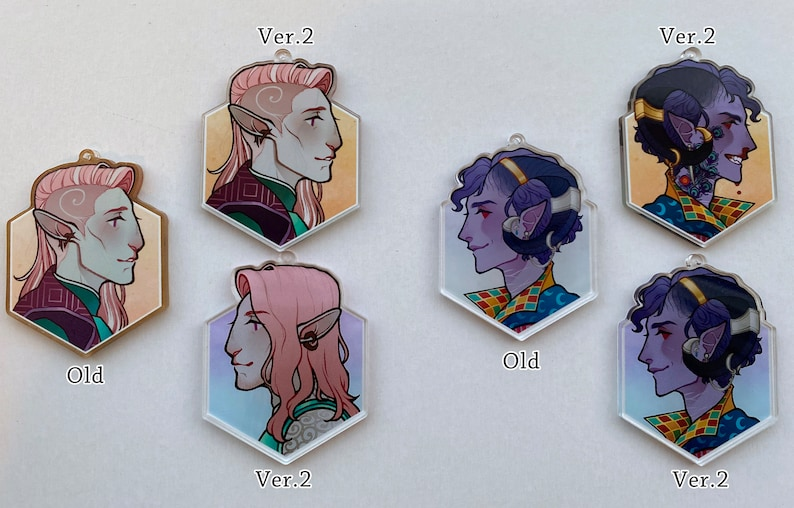 Critical Role Double-Sided Profile Charms