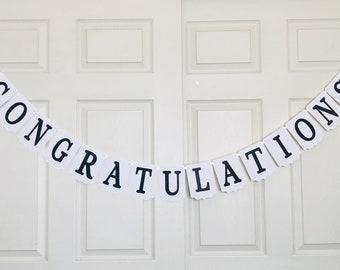 Congratulations banner- Graduation banner- Class of 2017 banner- Class of 2018 banner- Graduation party decoration