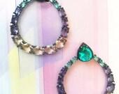 KC JAT Designs Multicolor Crystal Earrings