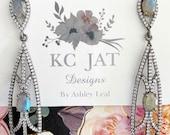 New KC JAT Designs Labradorite and White Topaz Earrings