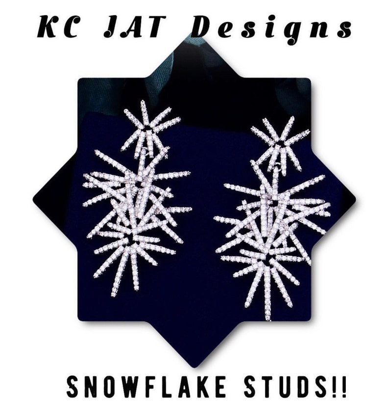 KC JAT Designs Snowflake Studs*