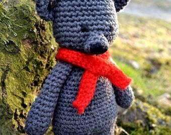 Crochet Teddy Bear, Amigurumi Bear, Handmade Toy