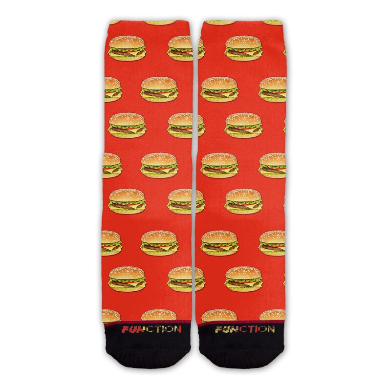 Realistic Cheeseburger Pattern Fashion Socks Function