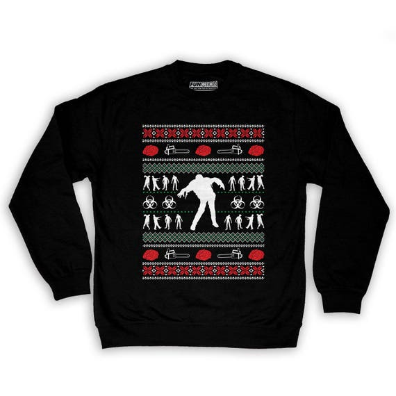 Zombie Christmas Sweater.Function Zombie Ugly Christmas Sweater Men S Fashion Crew Neck Sweatshirt