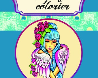Angels coloring - coloring book