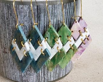 circle stud earrings  blue  green  purple  gold  stud  party jewelry  wedding  regal Semi