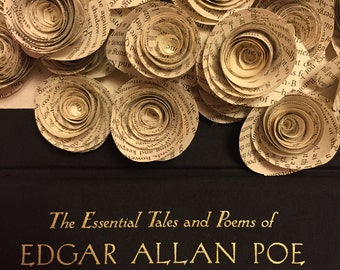 25- Edgar Allan Poe Book Page Roses