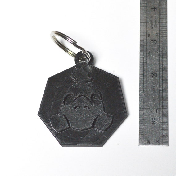 handcrafted leather Overwatch Roadhog leather keychain