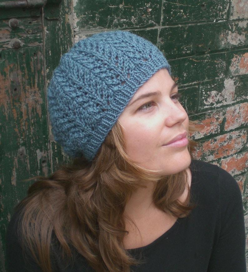 Knitting PATTERN for women Slouchy Hat Pattern Knit Beanie  d0ec7966328
