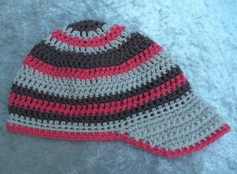 Sun visor hat baby shower crochet hat Visor CAP pattern for baby Baby cap pattern DK cotton weight Crochet PATTERN