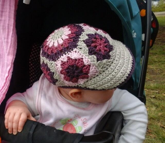 Crochet Pattern Visor Hat Pattern For Babies Afghan Daisy Etsy