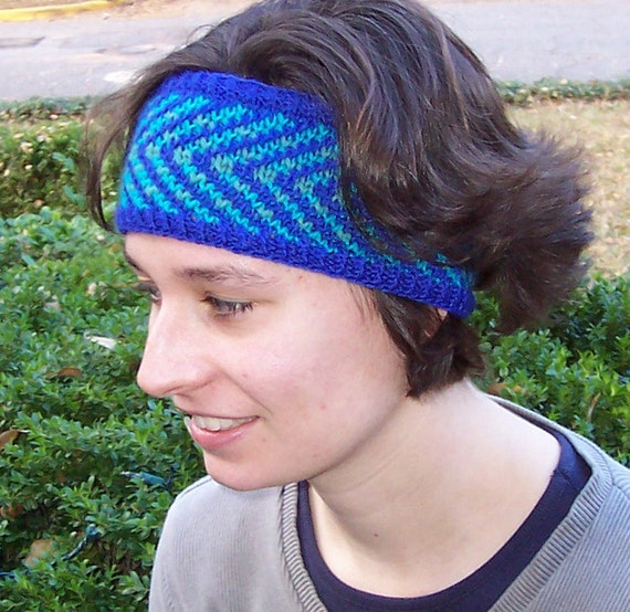 Knitting Pattern Knit Headband Pattern Fair Isle Headband Pattern