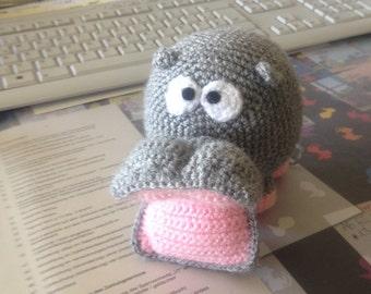 Hippo amigurumi little hippo