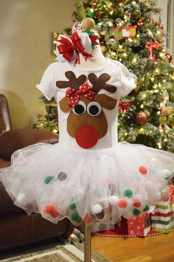0ca63b7246 RTS  24M 2T Reindeer Tutu Christmas Tutu Red White Tutu