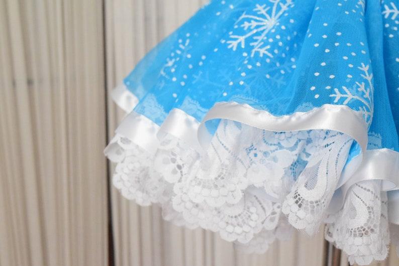 Winter Wonderland Birthday Tutu Winter Photo Prop Winter Birthday Tutu Snowflake Tutu Winter Onederland Tutu Lace Tutu