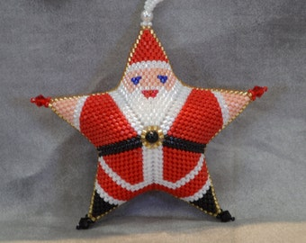 Peyote Santa Star-Medium Pattern