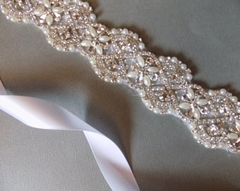 Beautiful bridal sash, crystal bridal belt, wedding dress sash, wedding dress belt