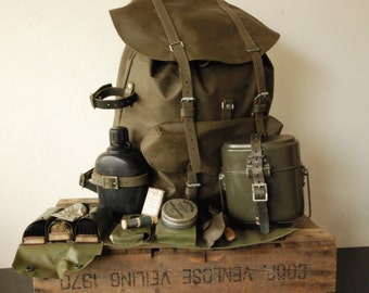 a4a9a6584 Swiss army Backpack Rucksack - Rubber Leather Hunting - Hiking - Fishing -  Bushcraft - Outdoor