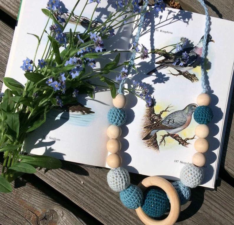 Nursing necklace crochet necklace Ringduva