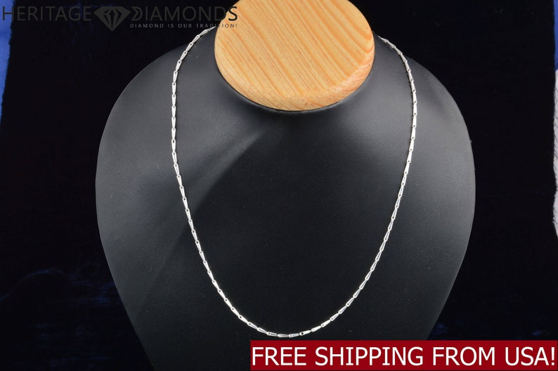 18 Inches Handmade 925 Sterling Silver Chain Necklace Italian Style 5 g 1.80mm