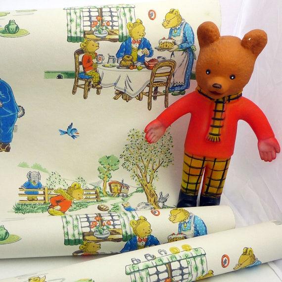 Vintage Rupert The Bear Wallpaper Etsy