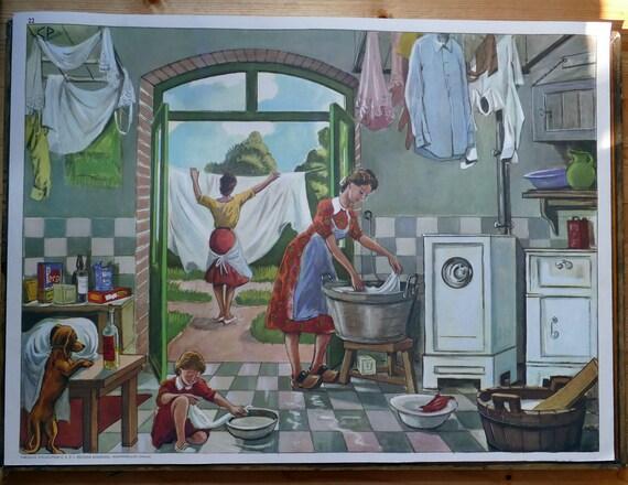 Französisch klassenzimmer poster print kunstdruck wäsche etsy