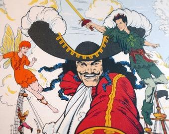 Vintage Wallpaper - Hook!/Peter Pan