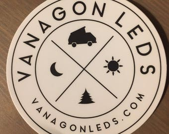 "VanagonLEDs 4"" Circular Vinyl Sticker"