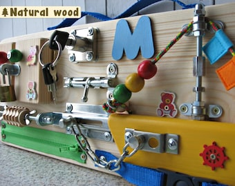 Personalized busy Board Small boat, Toy for toddler, Sensory children  Game, Activity Toy, Toy with latches,  Wooden Toy, Toddler quiet game