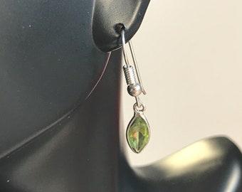 Sterling Silver Flawless Marquise Cut Peridot Earrings