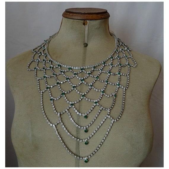 Vintage 1920s20s 1930s30s DIAMONTE PASTE BELT Antique Art Deco