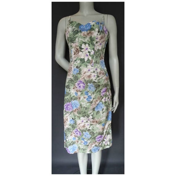 Vintage 1950s/50s Horrockses Floral Wiggle DRESS F