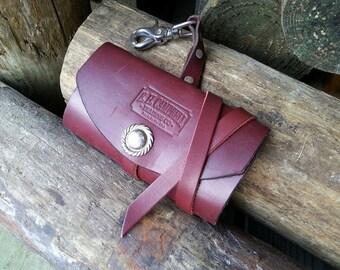 The E.H. Campbell Latigo leather fly fishing wallet