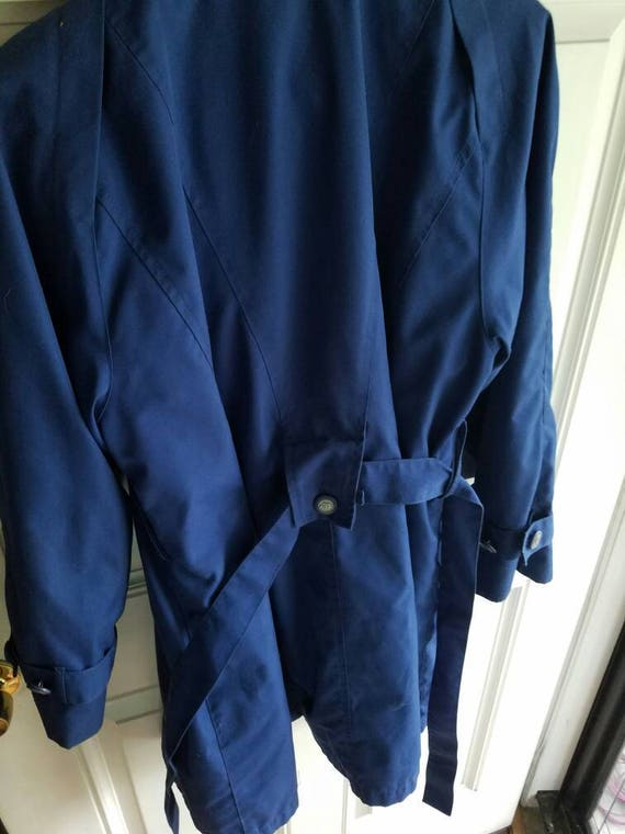 rain fog lined jacket Vintage blue jacket London XA4fUq