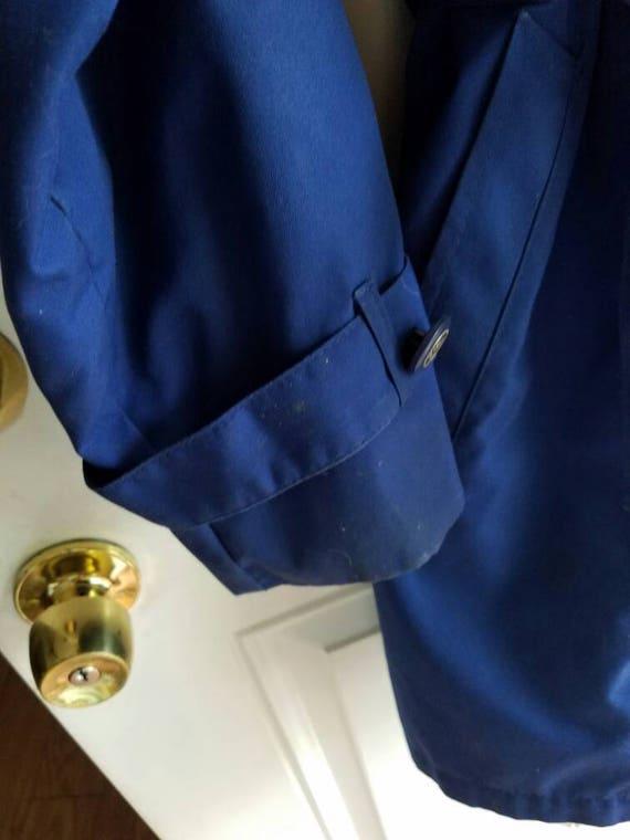 rain fog lined jacket Vintage blue jacket London XA4fUq