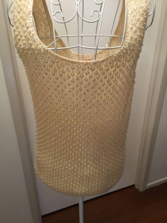 Cream knit top, vintage sweater, cream retro top,