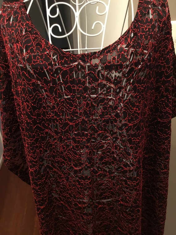 Caftan Robe Longue Taille 4xl 5xl 6xl 62 64 66 68 70 Rouge Noir Dauphins cw655