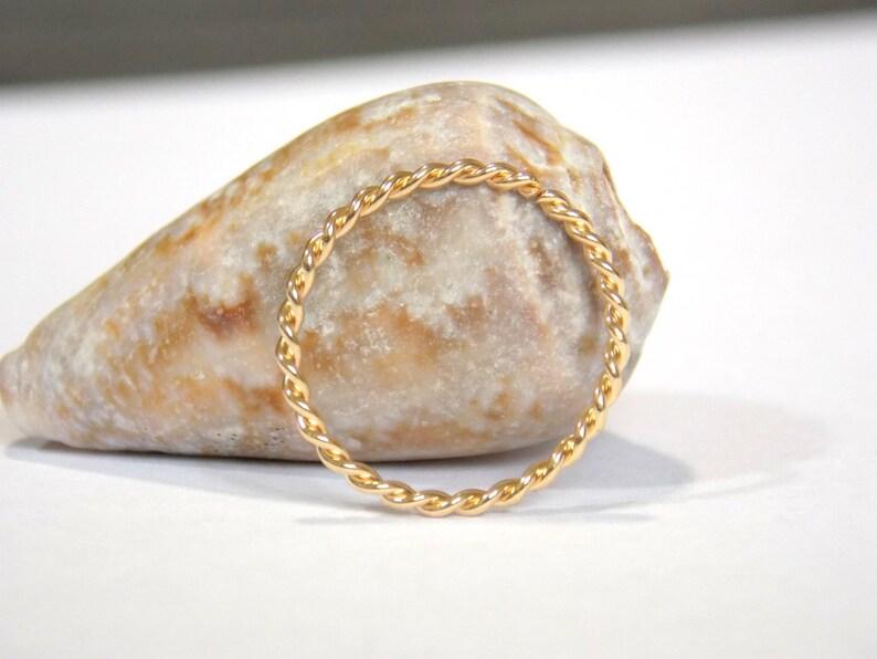 Gold Twisted Nose Ring Septum Piercing,18g 20g 22g Nose Hoop Gifts Nose Twisted Ring conch piercing Handcrafted 14K Gold Filled Septum