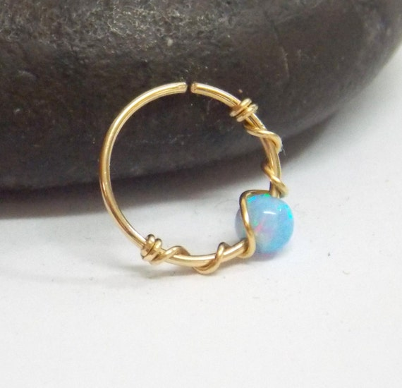Helix Earring Septum Helix Opal Septum Rings Ring Etsy