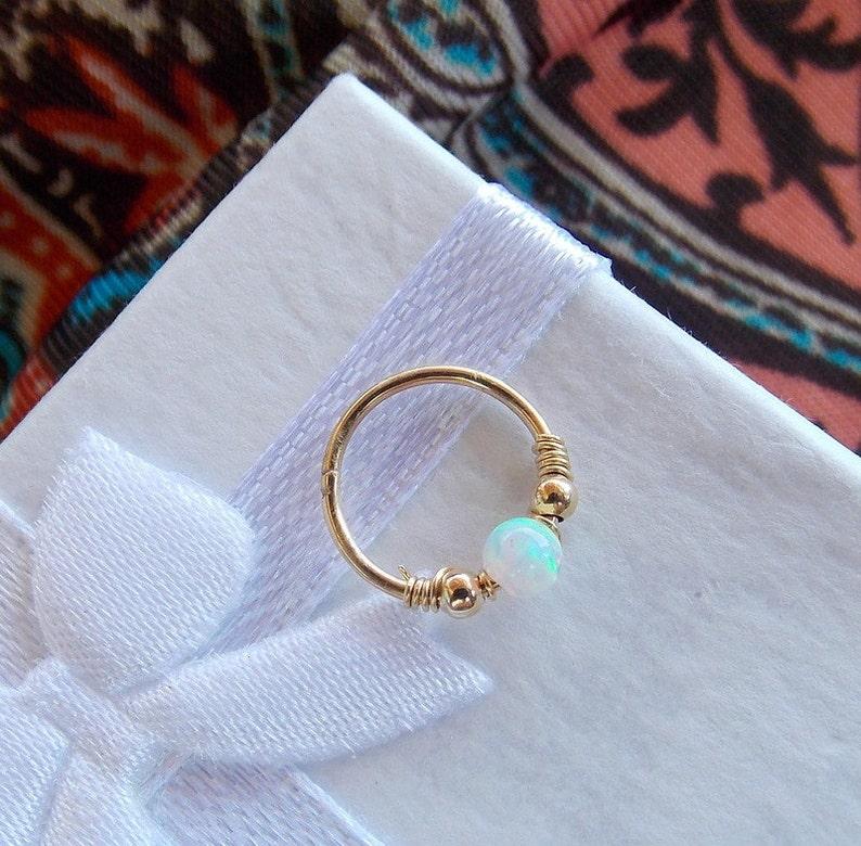 Helix Earring  Septum helix  Opal Septum Rings  Ring  image 0