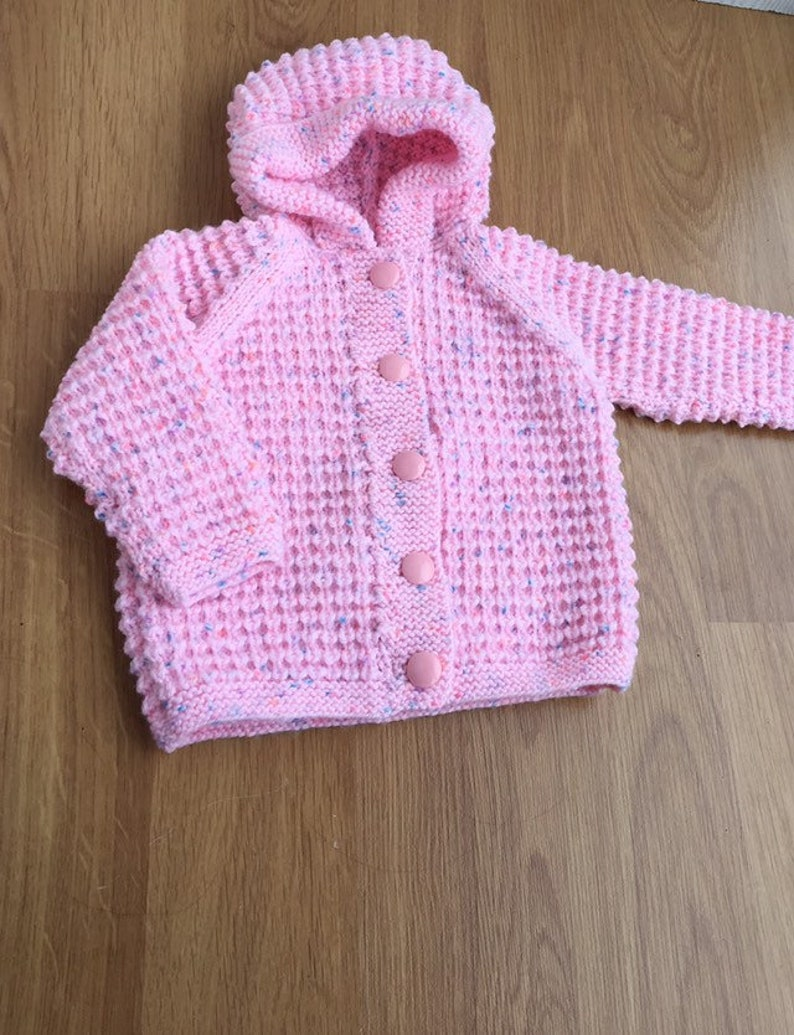475bcf25e Pink hooded baby jacket baby girl s coat textured hand