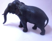 Japanese Antique, antique bronze, carved elephant, Meiji bronze, Meiji animal bronze, antique sculpture, old pawn, free shipping