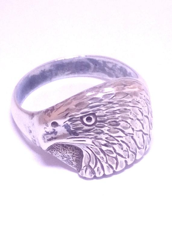 Vintage Ring, Men's Ring, American Eagle Ring, Ste